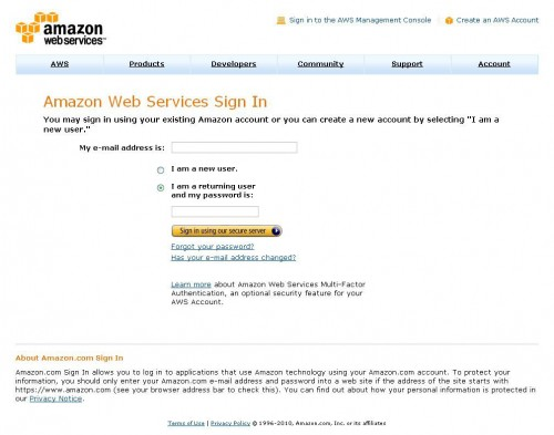 Amazon Web Services Signin