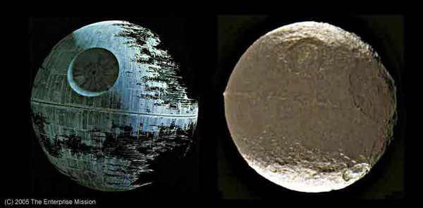 Deathstar compared with Mimas