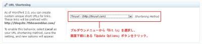 WordTwit 短縮URLサービスの選択